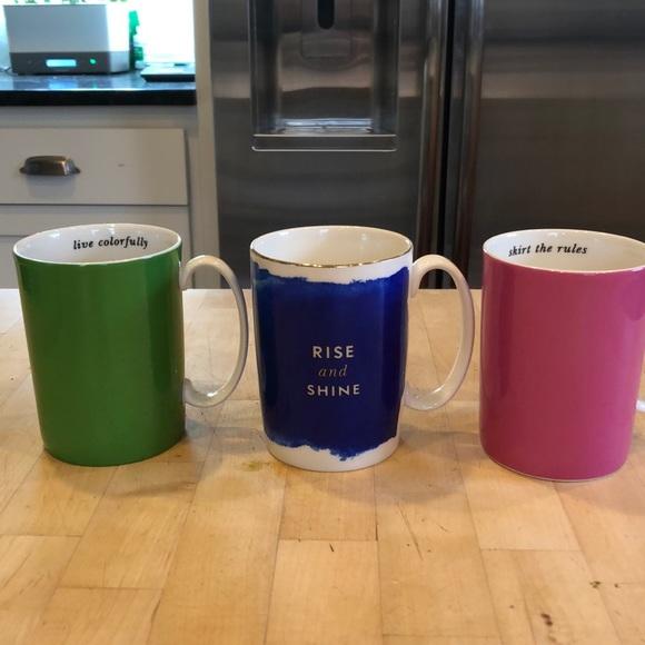 Kate Spade x Lenox Bundle (3) Coffee Mugs